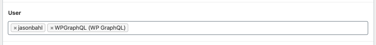 User field in the Edit Post screen
