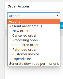 WooCommerce Order action with custom email