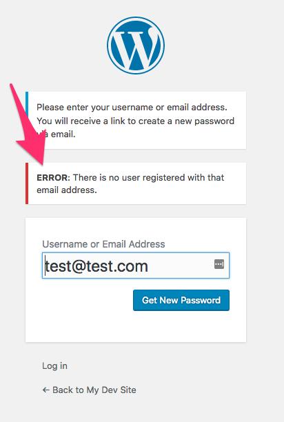 Bad Email Error