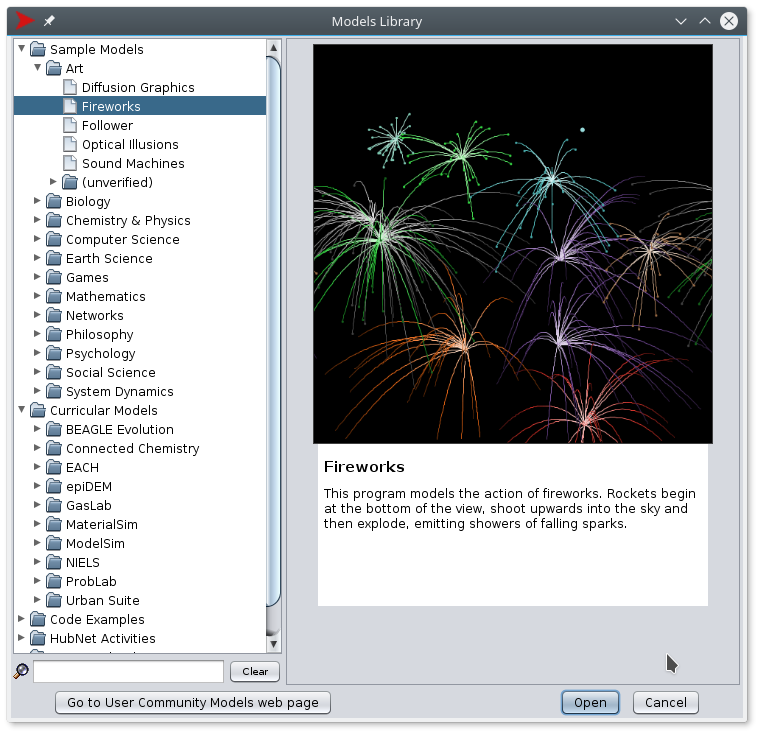 NetLogo FireWorks