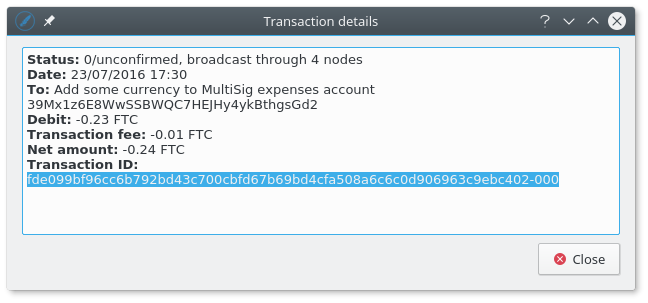 Copy the Transaction ID