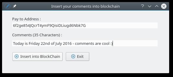 Comments Dialog