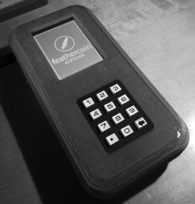 Feathercoin POS (Point of Sale) Device