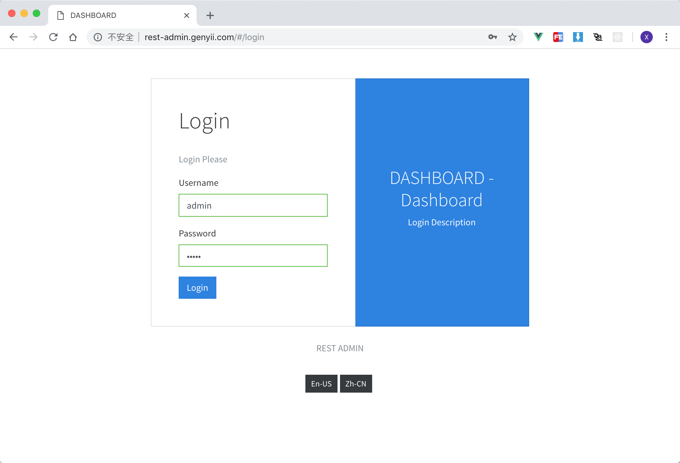 Restful Admin Dashboard Based on Vue and Boostrap 4
