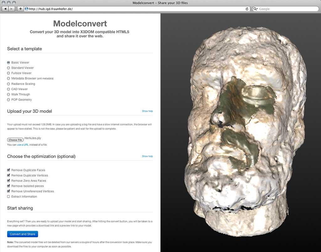 Modelconvert Screenshots