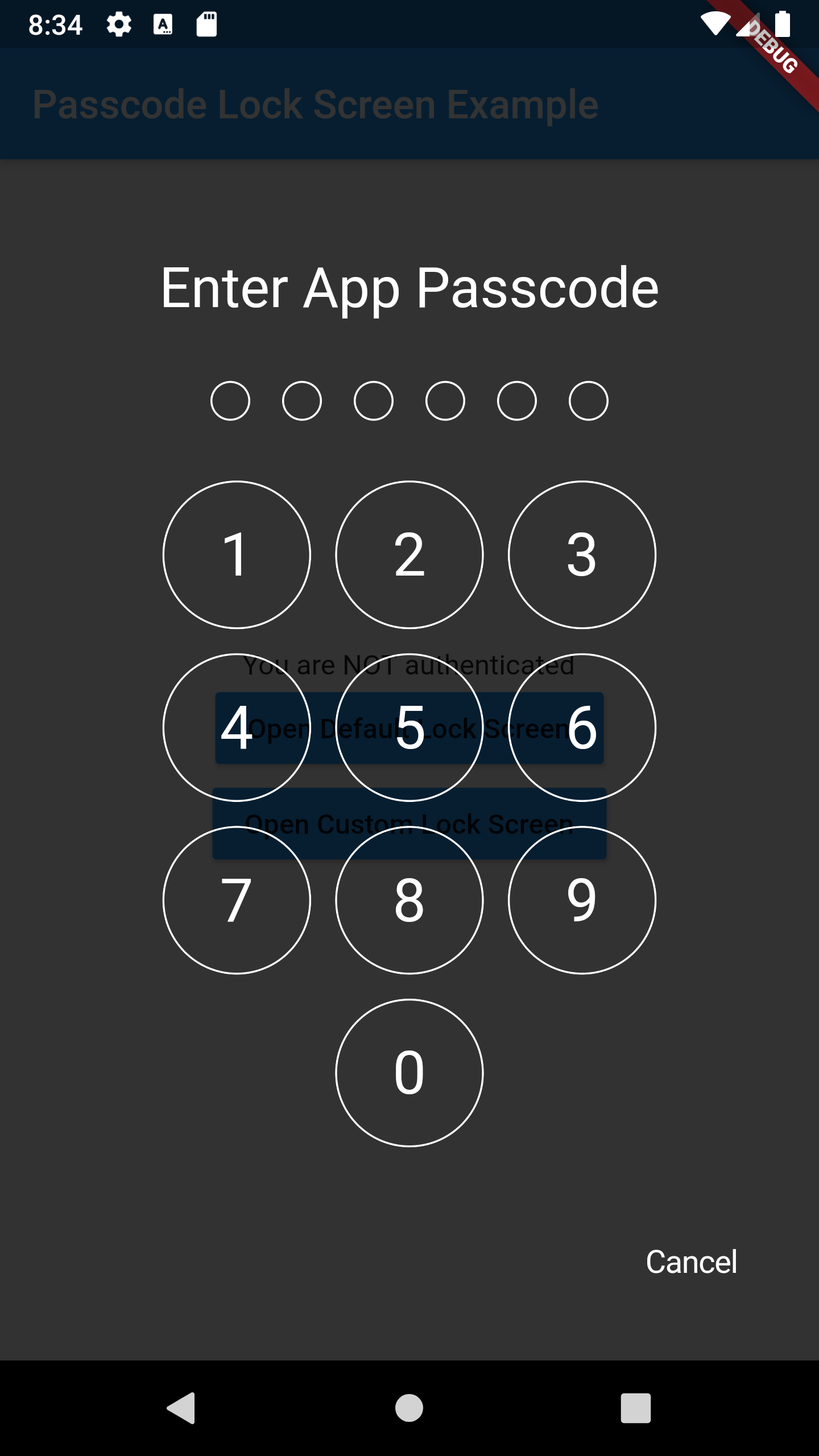 A Flutter package for iOS and Android for showing passcode