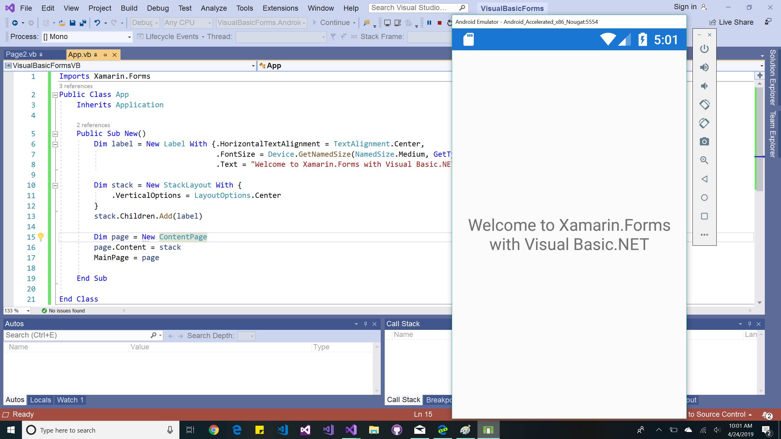 mobile-samples/VisualBasic at master · xamarin/mobile