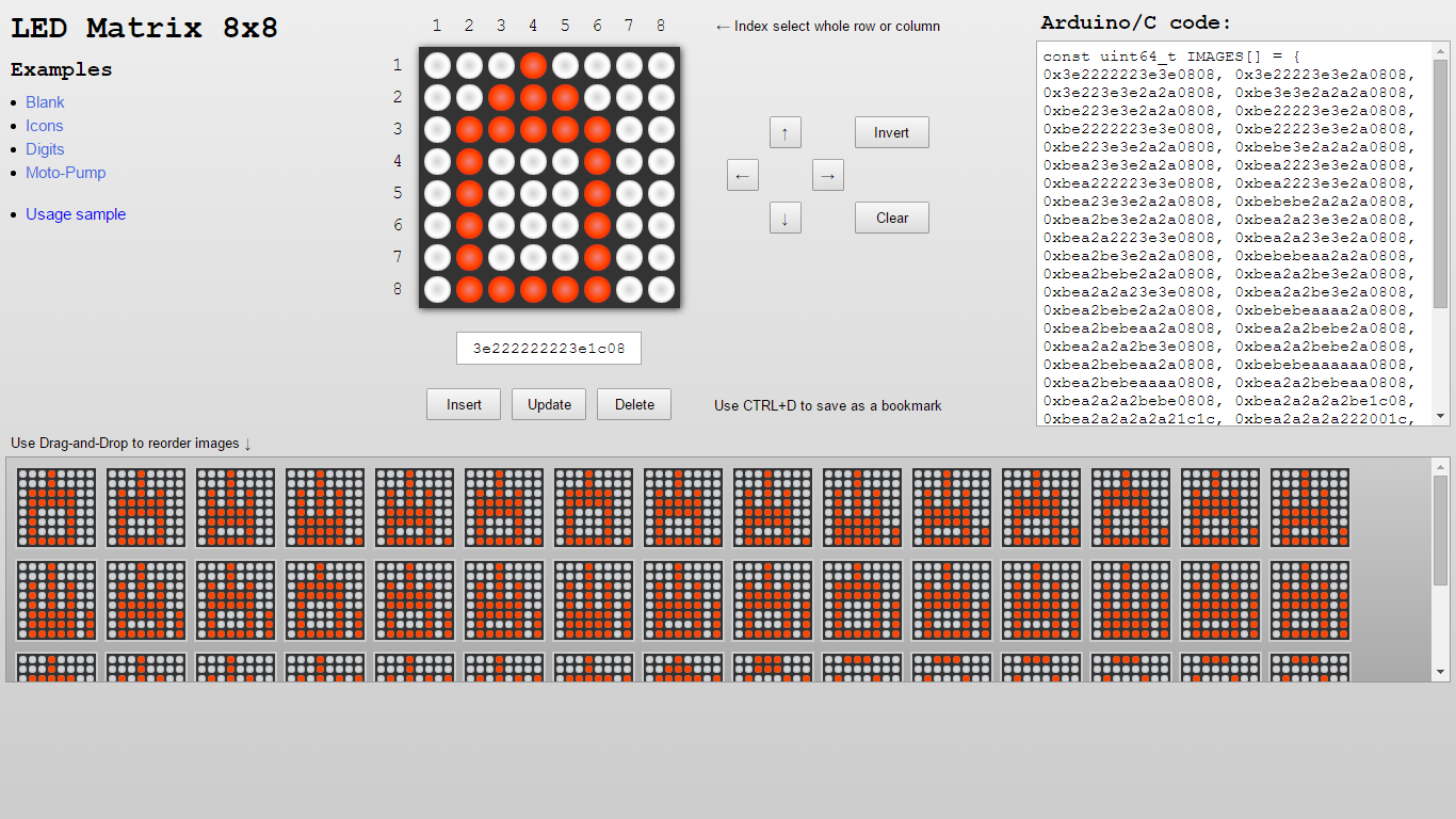 LED Matrix Editor screenshot