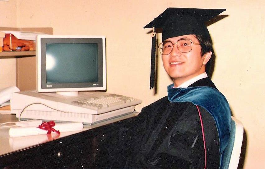 图2,1987年邵老师博士毕业