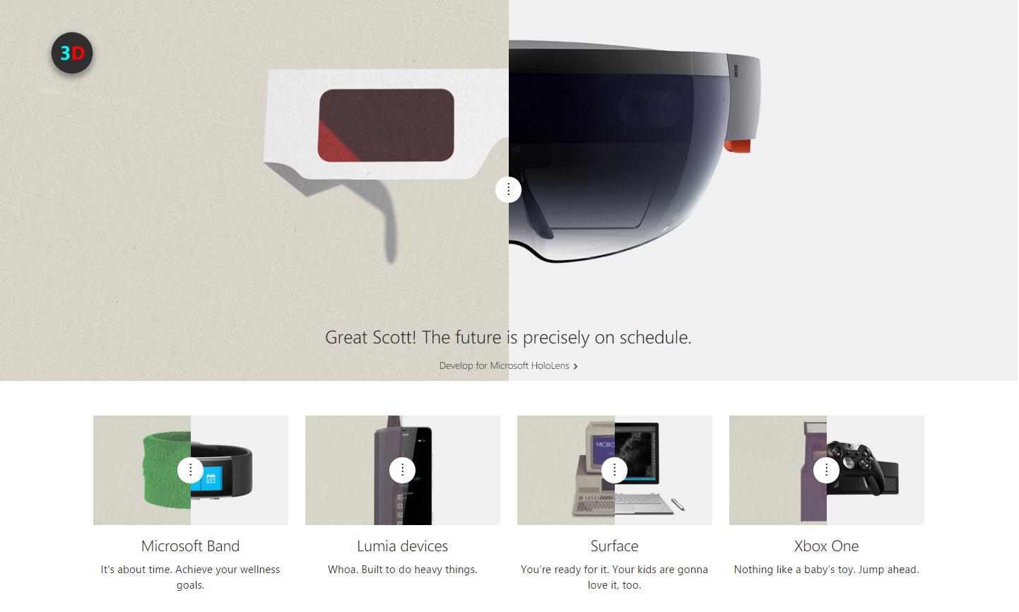 """微软""""回到未来"""":HoloLens、Surface Book、Lumia"""
