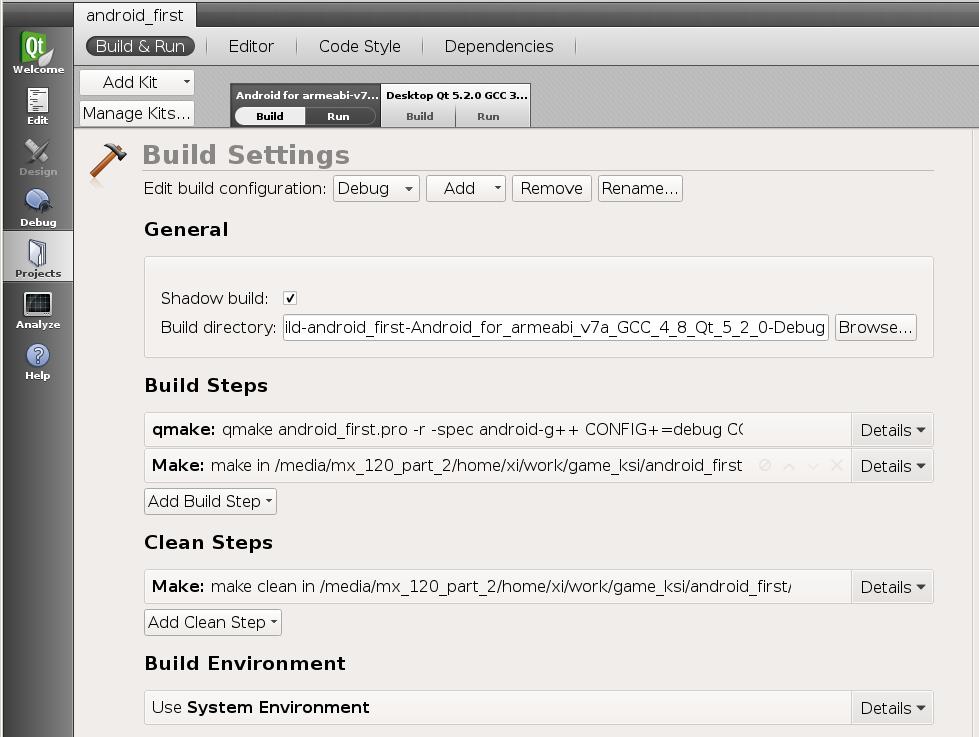 Как установить среду разработки Qt 5 2 под Android в Linux