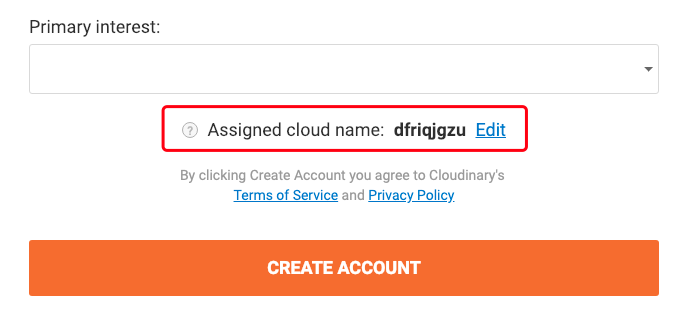 Assigned cloud name