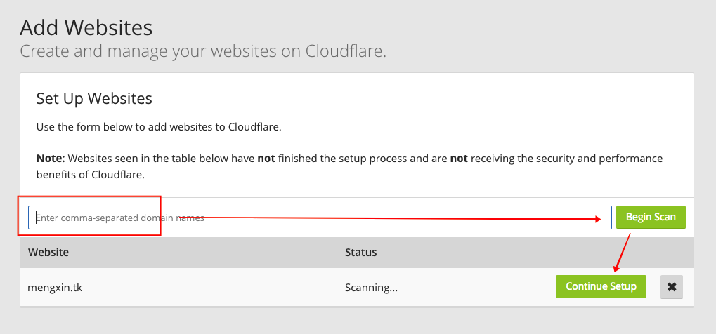 cloudflare-add-site
