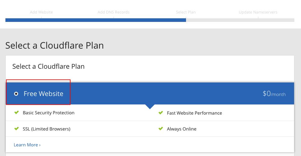 cloudflare-free-plan