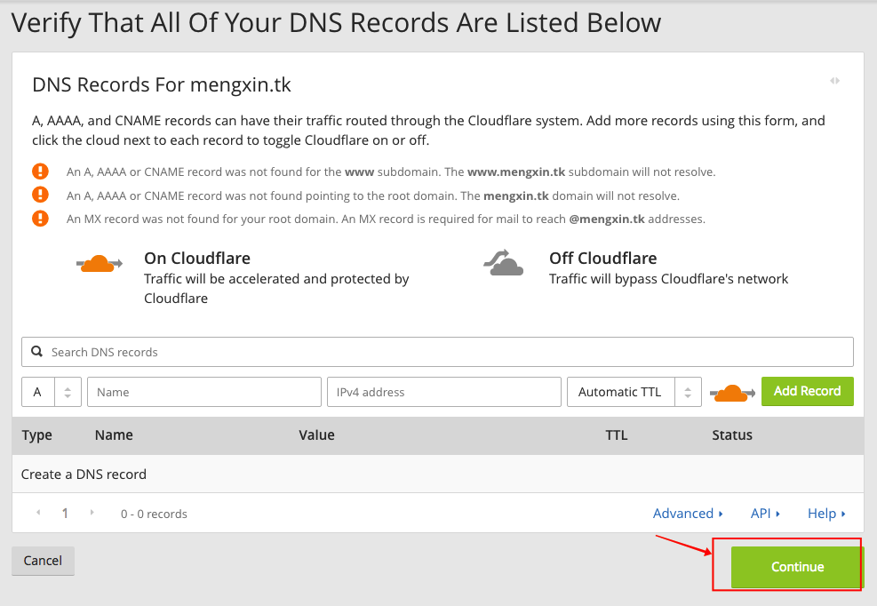 cloudflare-verify-recored