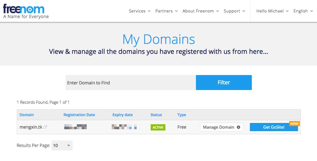 freenom-my-domain