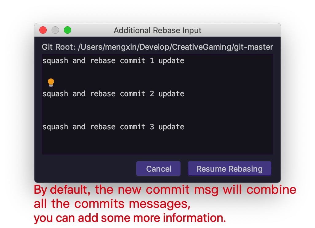 new-commit-message