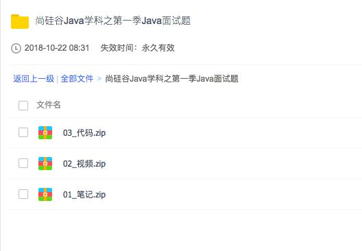 尚硅谷Java面试第一季视频教程