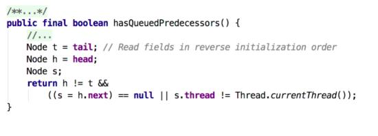hasQueuedPredecessors