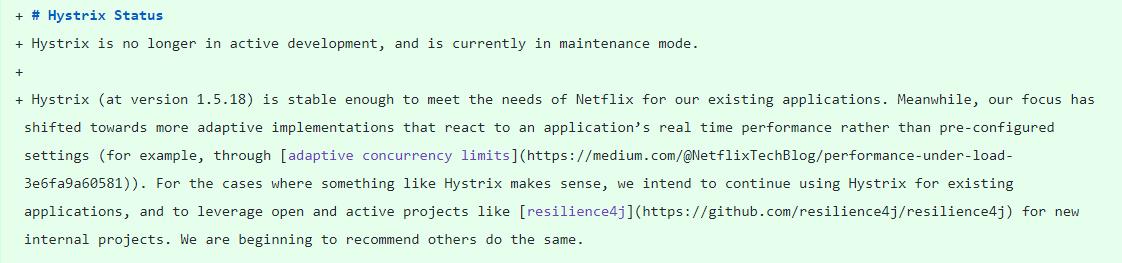 Netflix 宣布停止开发 Hystrix