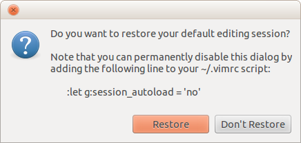 Screenshot of auto-open prompt