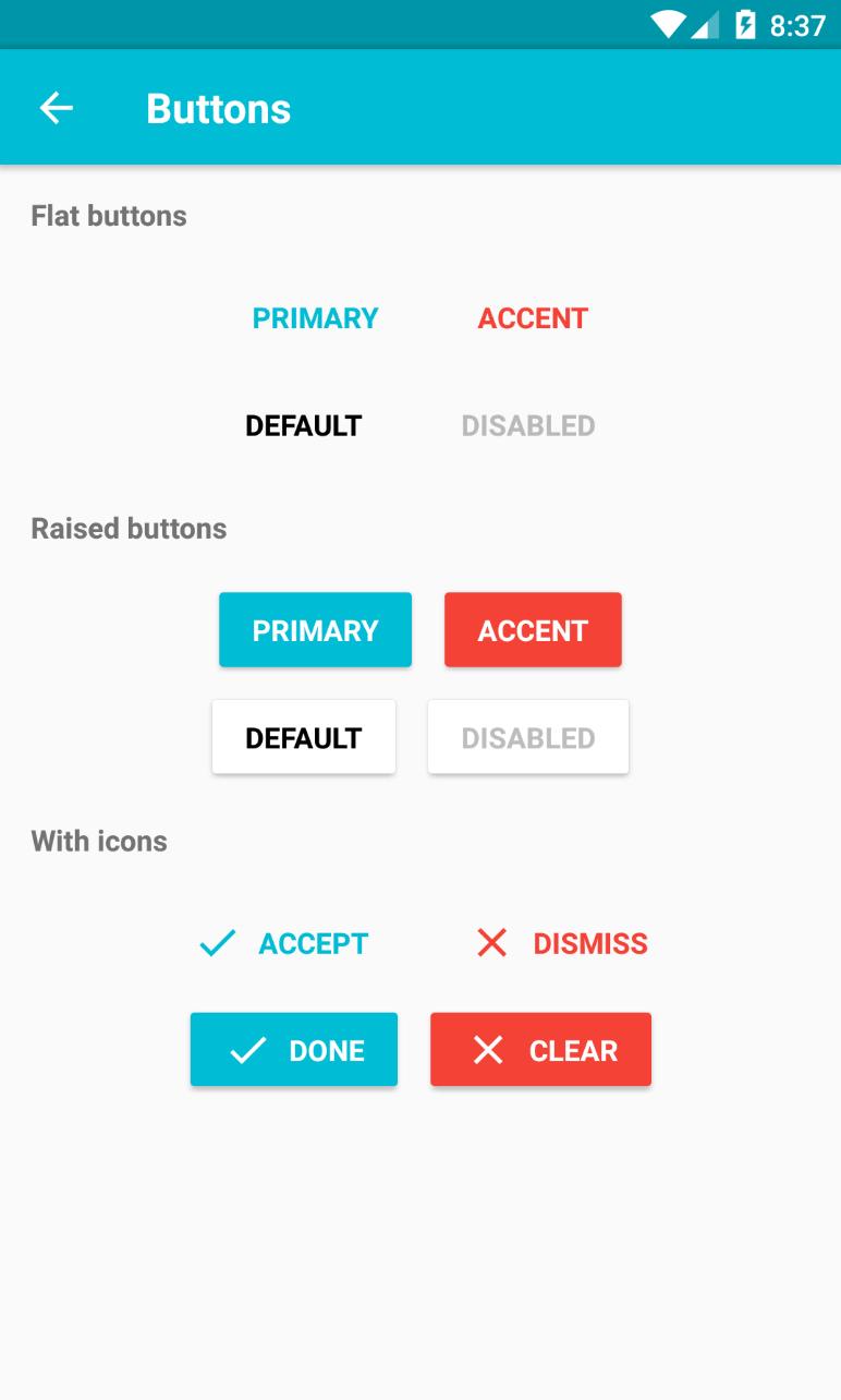 xotahal/react-native-material-ui Highly customizable