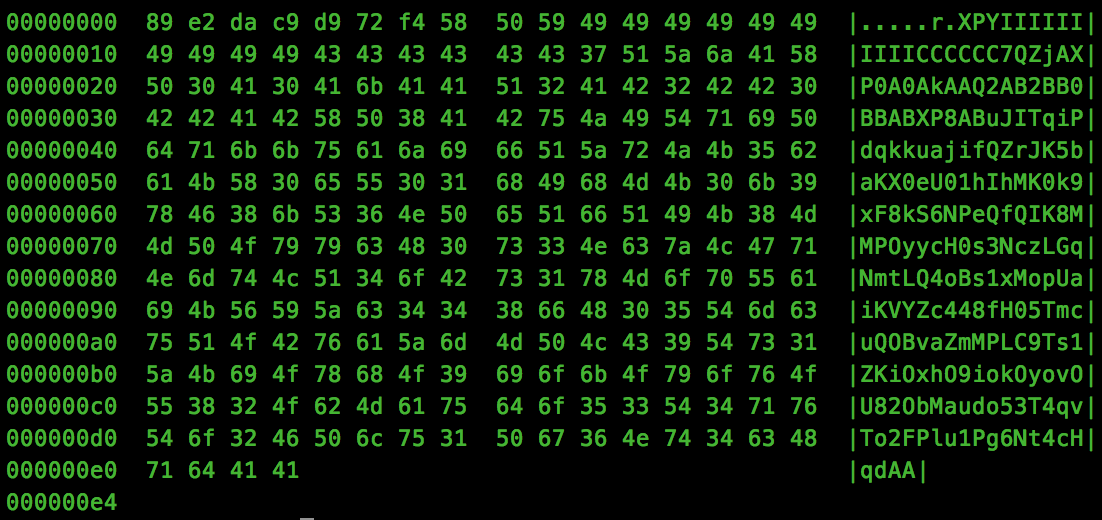 Hexdump Output