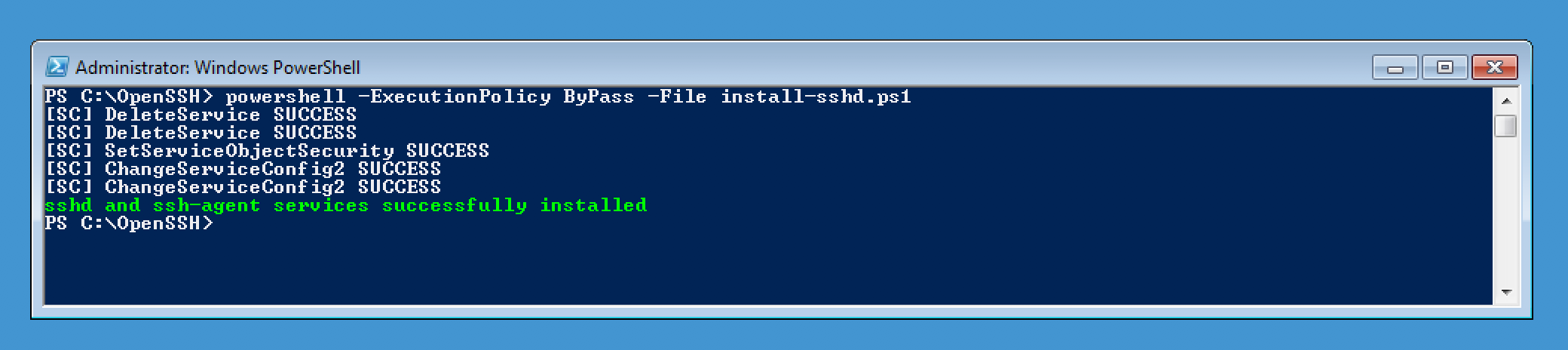 SSH Windows