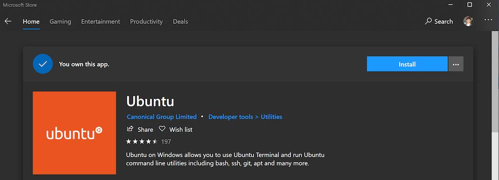 distro linux wsl