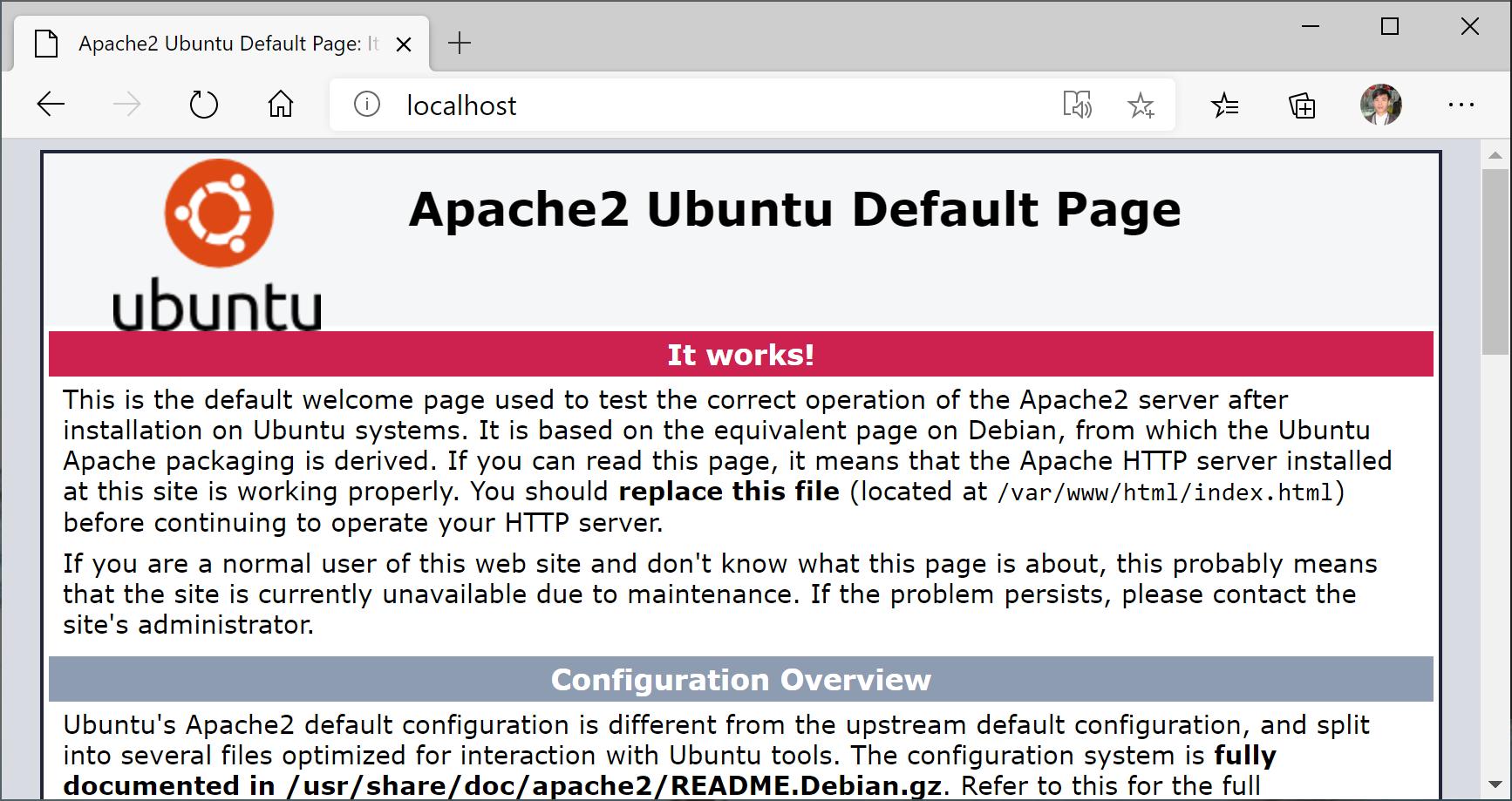 apache wsl2 ubuntu