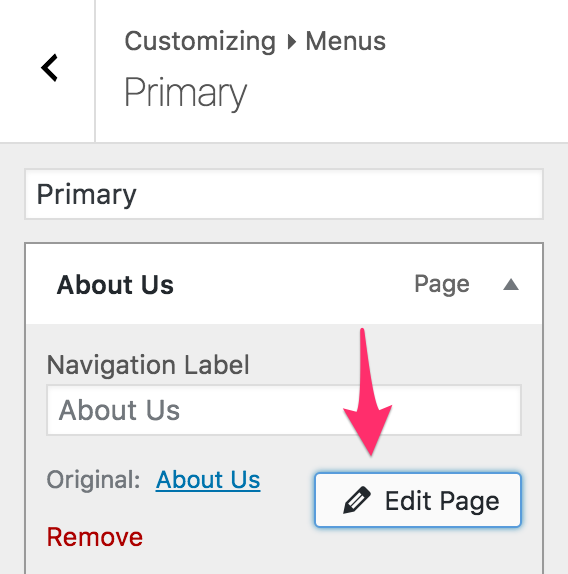 [0.8.0] Edit post button appears in nav menu items that link to a post or page.
