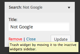 Widgets can be trashed while in customizer, causing them to be moved to the Inactive Widgets sidebar