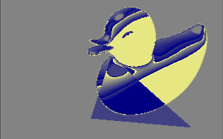 software rendered duck with glitch effect
