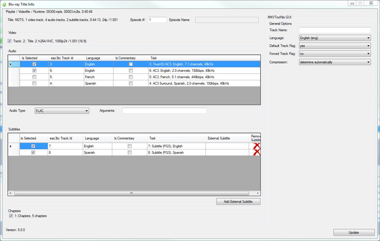 BatchGuy Blu-ray Title Information Screen