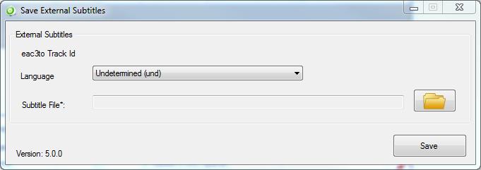 BatchGuy External Subtitles Screen
