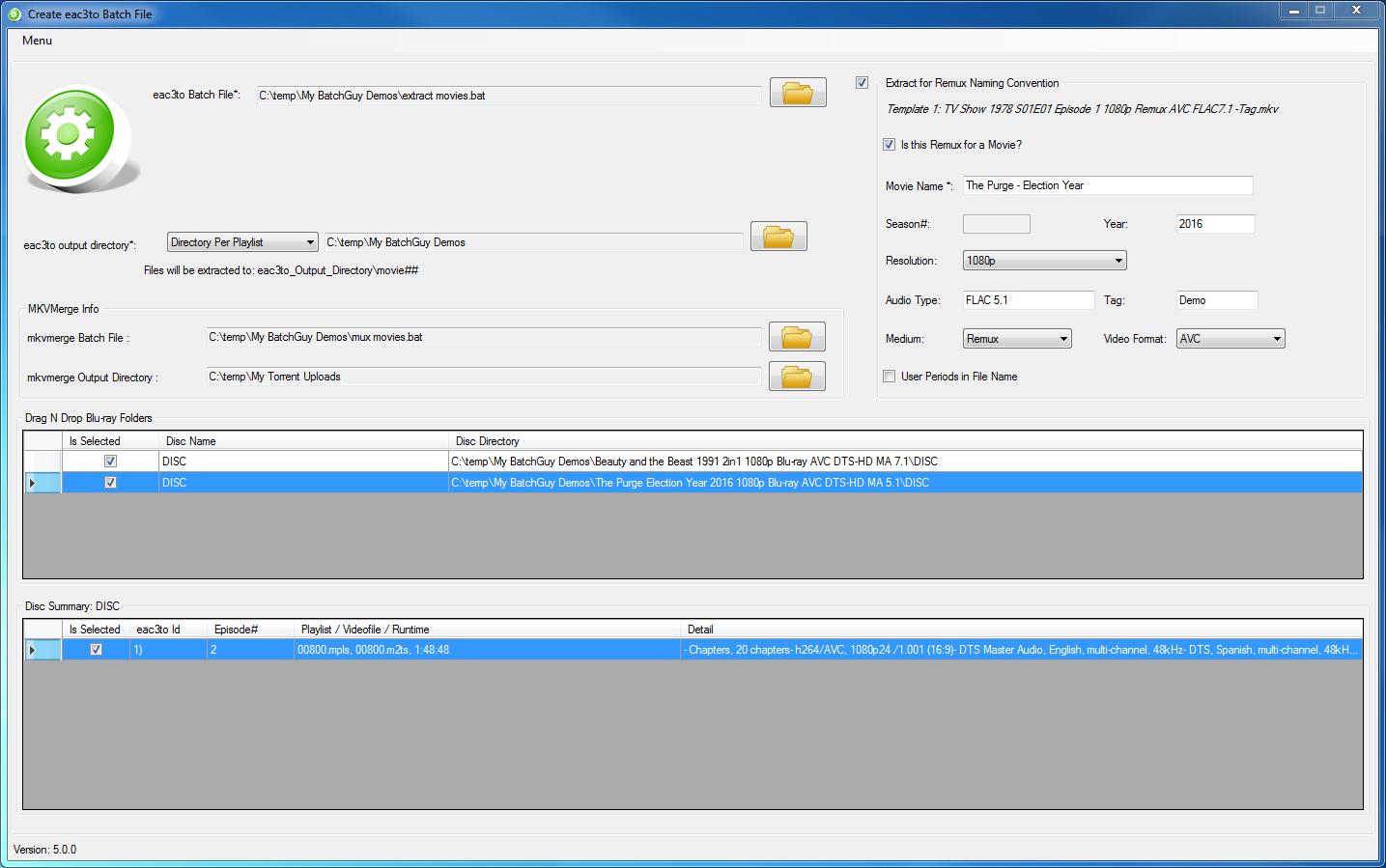 Remuxing Movie Bluray Discs with BatchGuy · yaboy58/BatchGuy