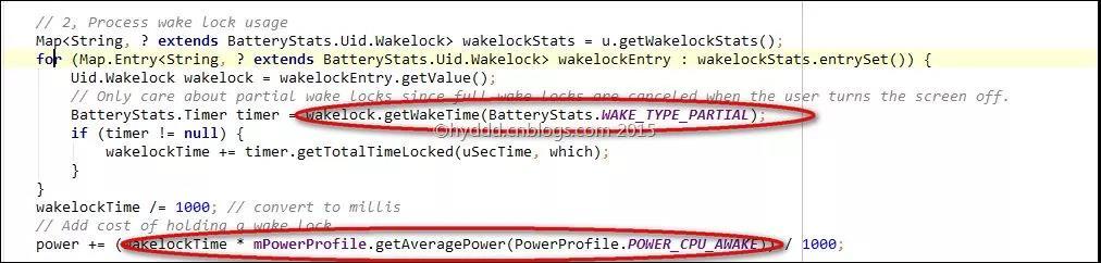 wack lock耗电量计算源代码