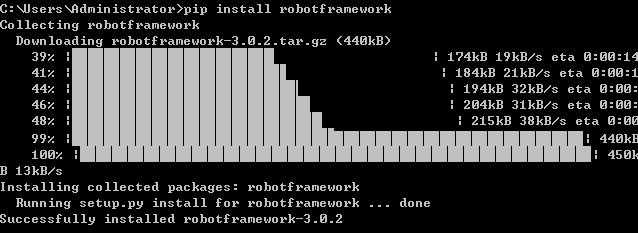 pip install RobotFramework