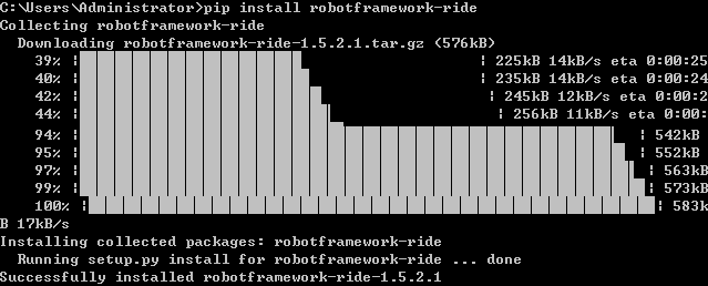 pip install RobotFramework-ride