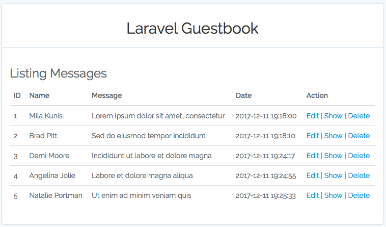 GitHub - yakuter/laravel-guestbook: An easy guestbook