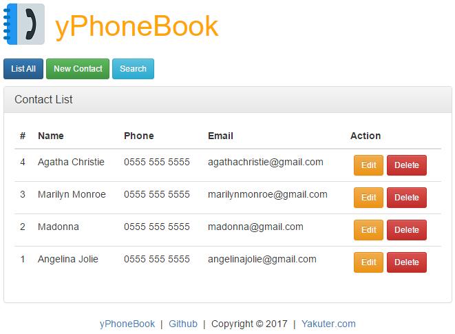 yPhoneBook