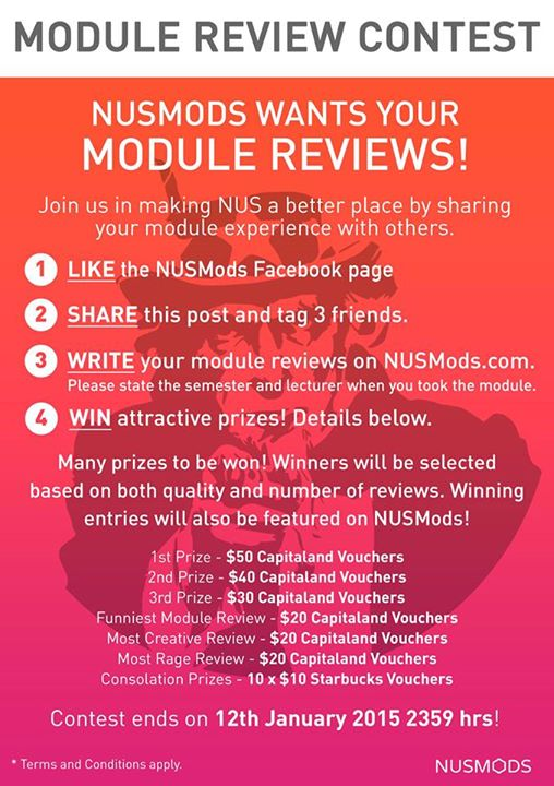 Module review contest screenshot