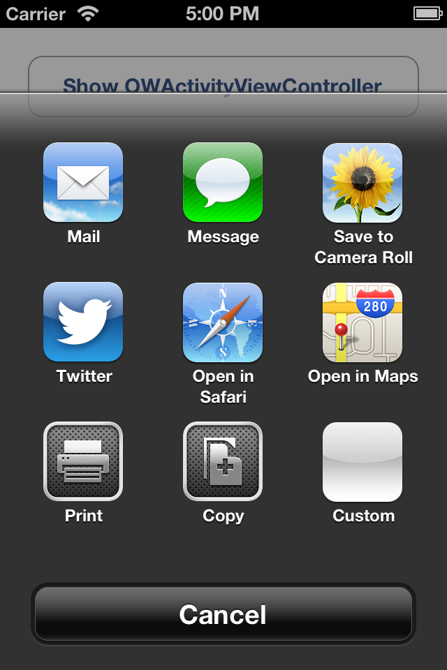 Screenshot under iOS 6.x