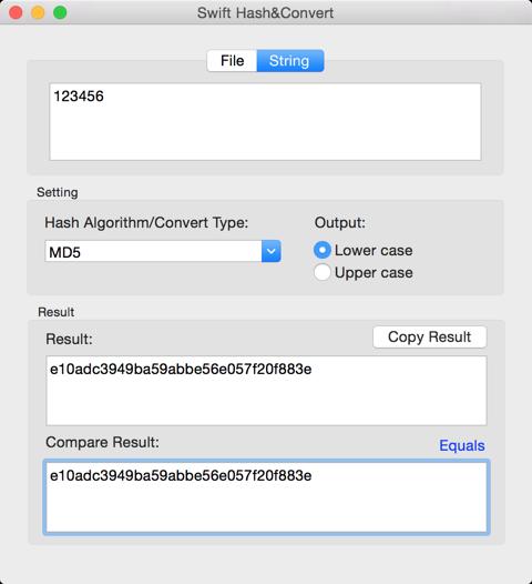 GitHub - yaoxinghuo/SwiftHash: Hash&Convert app for Mac
