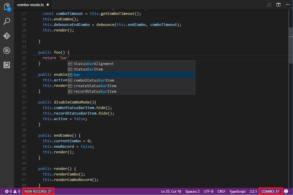 VS Code Combo Mode