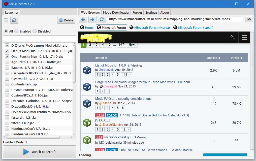 Web Browser tab