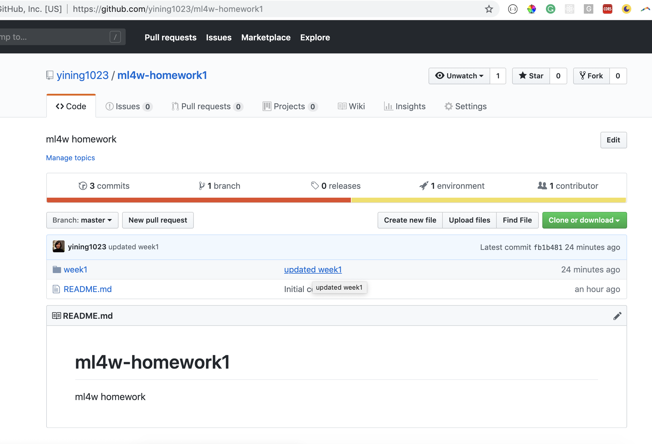 GitHub - yining1023/ml4w-homework