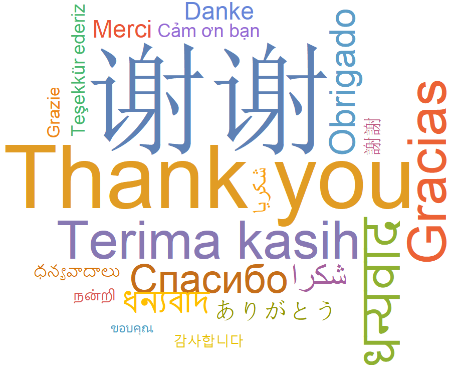 Thanks word cloud