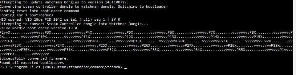 Proceso de flasheo de firmware para los dongles de Steam Controller