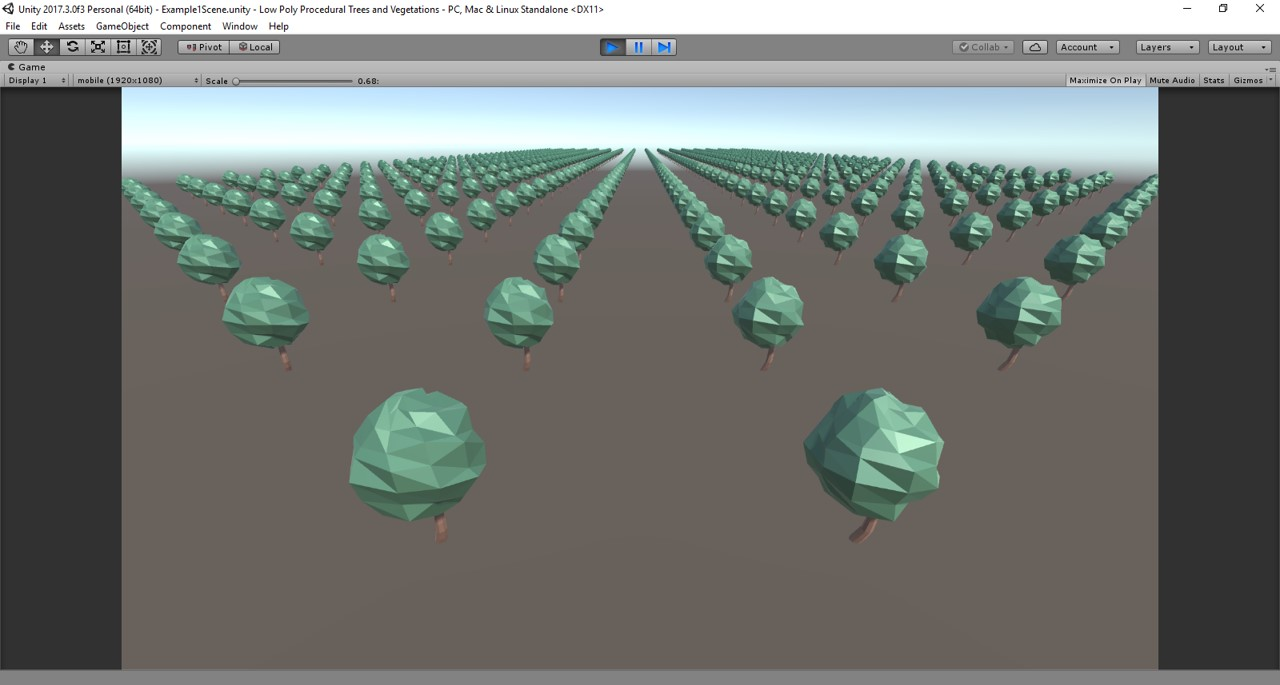 Low Poly Procedural Trees And Vegetations Project - UnityList